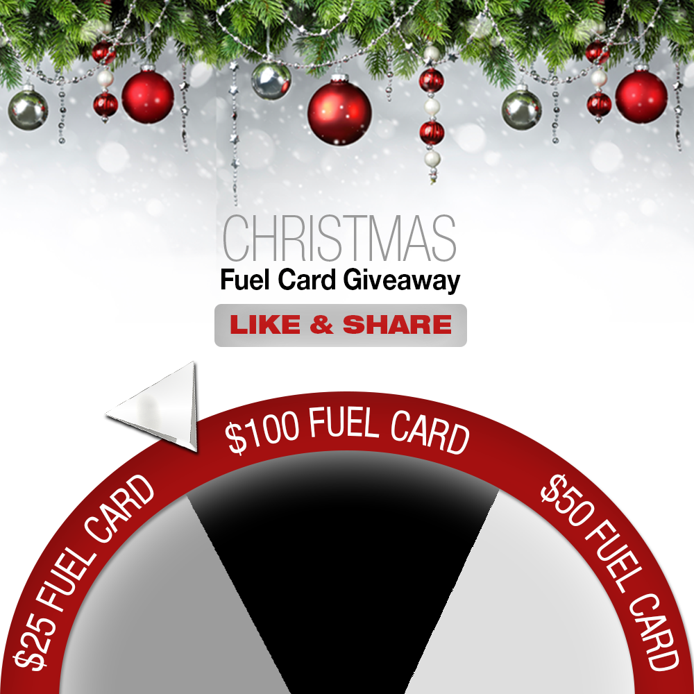 WIN $100, $50 or $25 FUEL CARD